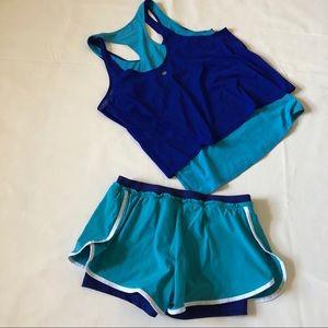 Nike Shorts - Nike Flex 2-in-1 Gym Running workout shorts.